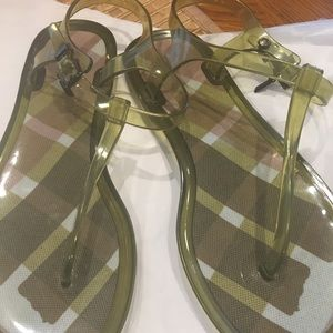 c8f7196abc7de1 Burberry Jelly Thong Sandal with Signature Charm!